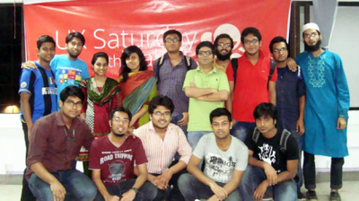 With the participants of the UX Workshop at Brac University
