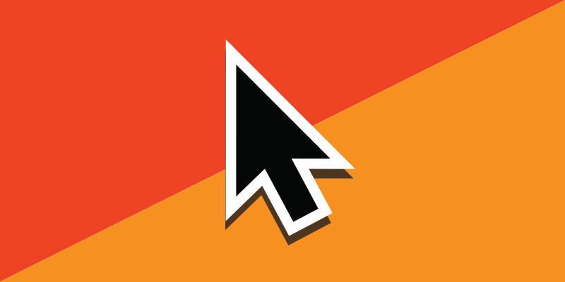 Userhub arrow on its orange triangles