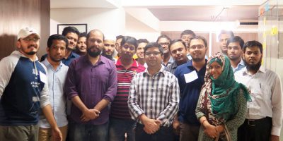 With the staffs of Brain Station 23 at in-house UX Workshop