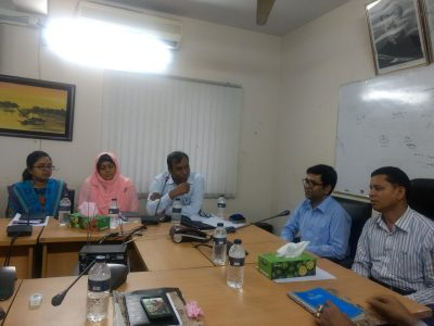 """Mr. Md. Saifur Rahman (ACCA, Senior Finance Controller) and Mr. Wahid bin Ahsan (Co-founder, Userhub) with the participants of Workshop on """"The Application of ICT for Better Service Delivery Through e-Governance and Human-centered Design"""" organized by Office of Senior Finance Controller (Navy)"""