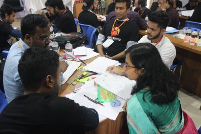 Participants at UX Boot Camp Design Thinking session.