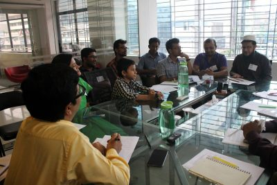Participants of the focus group discussion at Onnorokom Group.