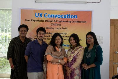 Therap BD Design Team after completing their UX course with Userhub.